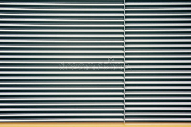 Download Metal roll curtain stock photo. Image of curtain, stripe - 12729262