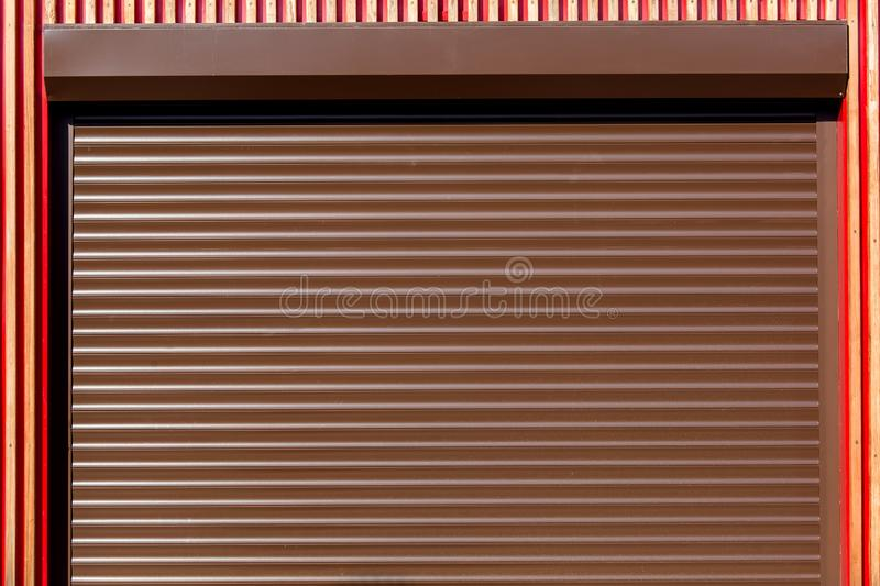 The Metal rollers shutters. stock photos