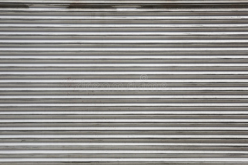 Metal rolling shutter texture background stock images