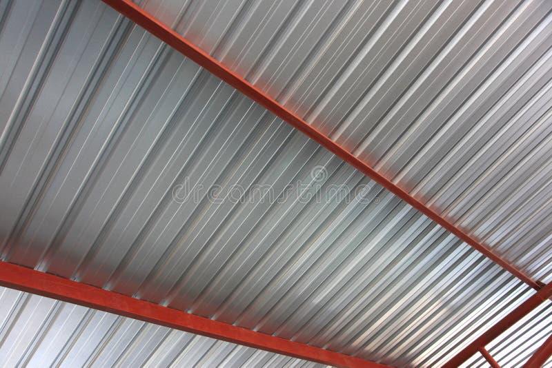 Metal roof stock image