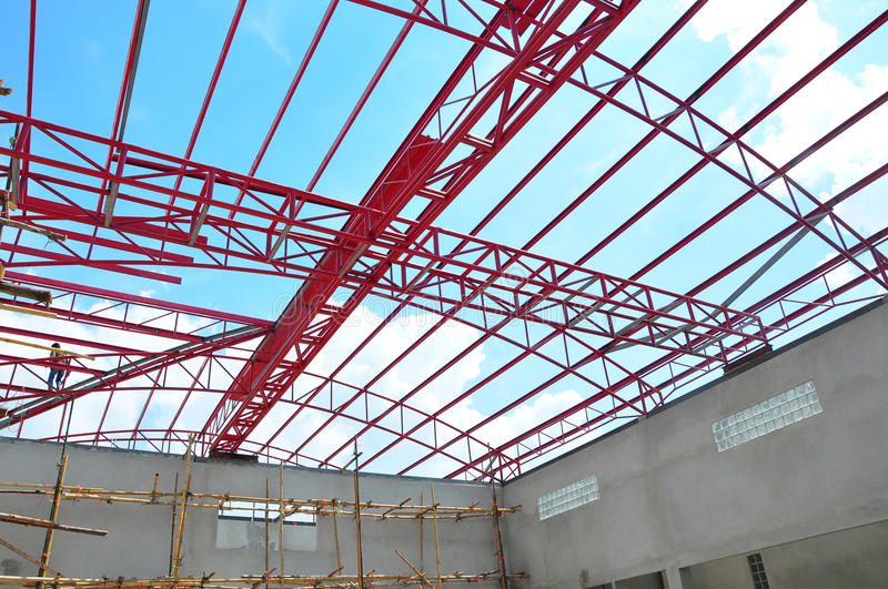 Metal Roof Construction Royalty Free Stock Photography