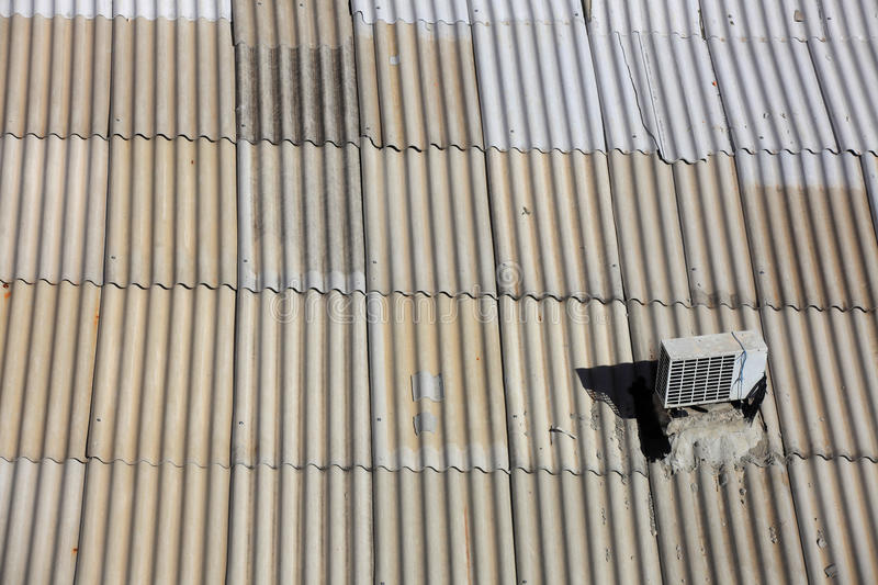Metal roof stock photography
