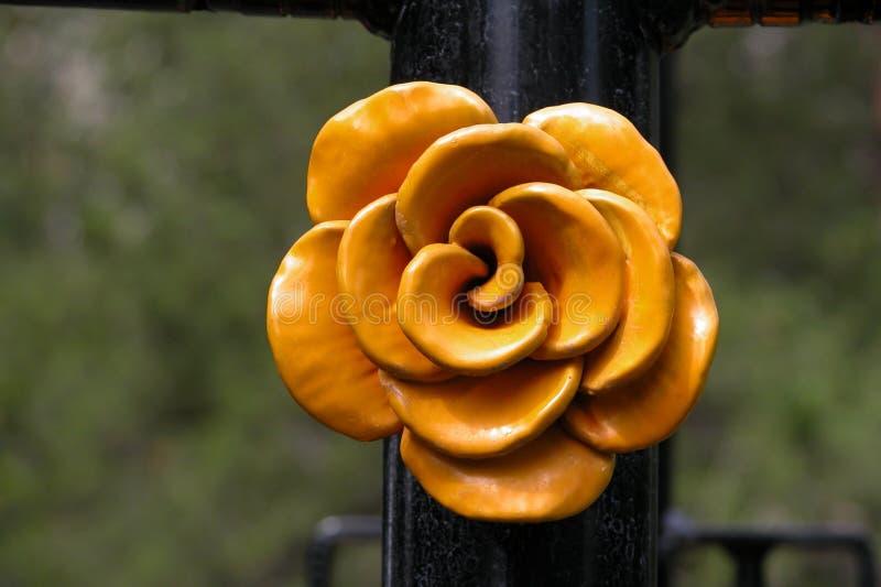 Metal A Rose Imagen de archivo libre de regalías