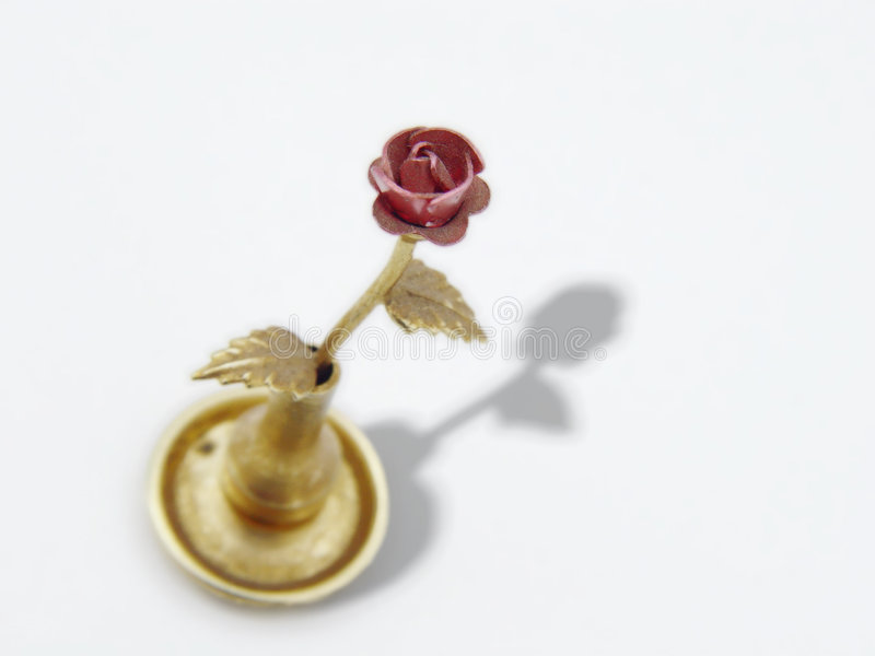 Download Metal Rose stock photo. Image of chintzy, holder, kitsch - 20632