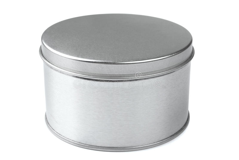 Metal round box stock photos