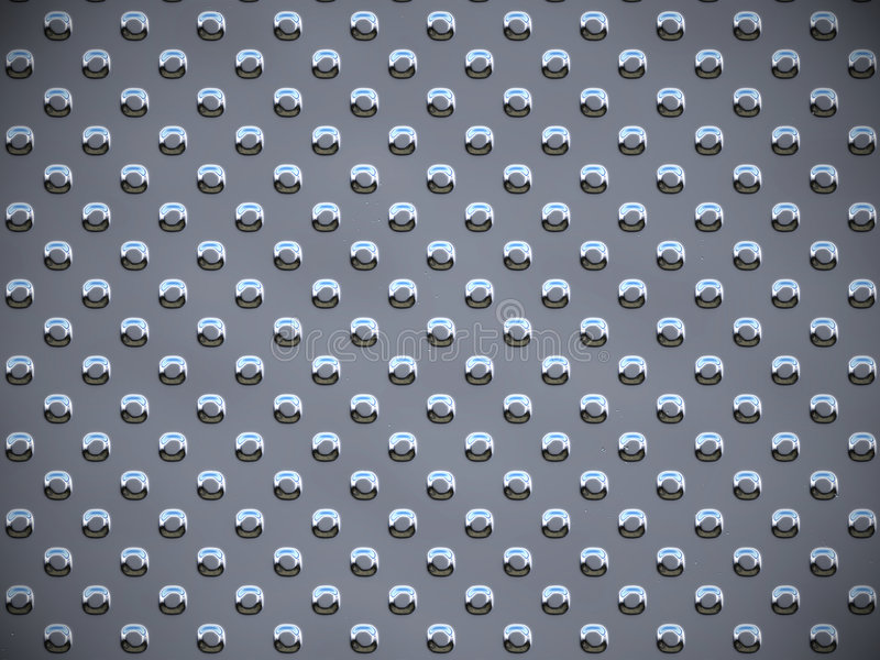 Metal round dots - Gray royalty free illustration