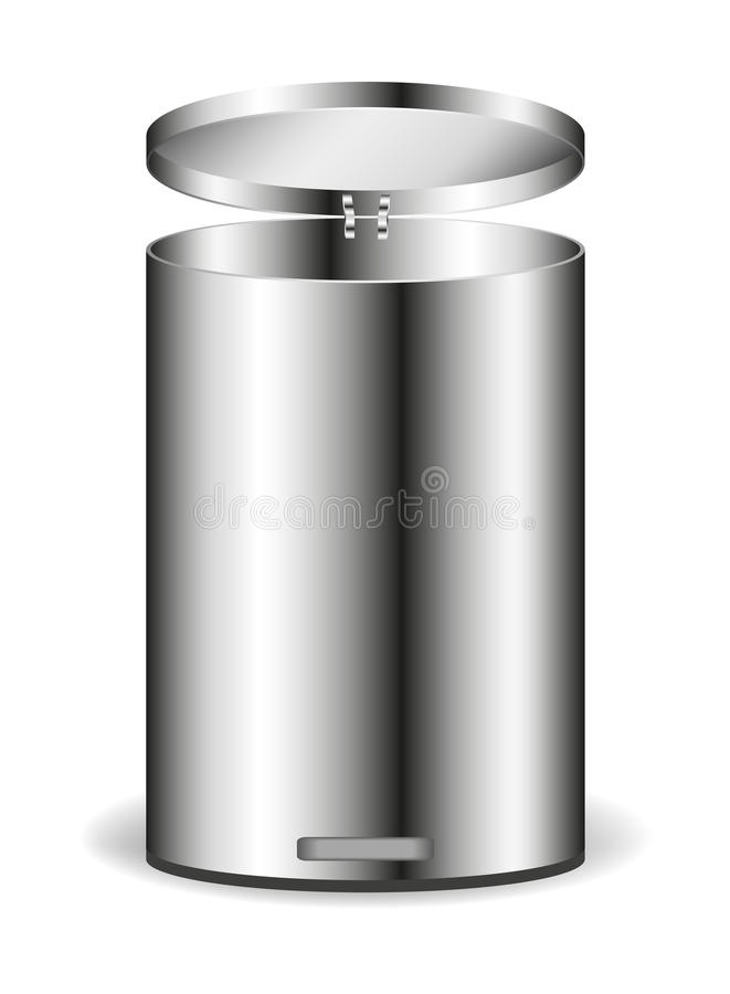 Download Metal rubbish bin stock vector. Illustration of reflection - 23201690