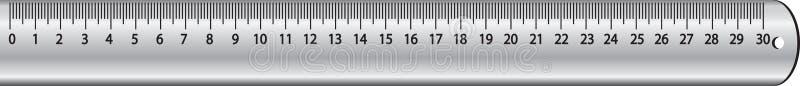 Metal ruler royalty free illustration