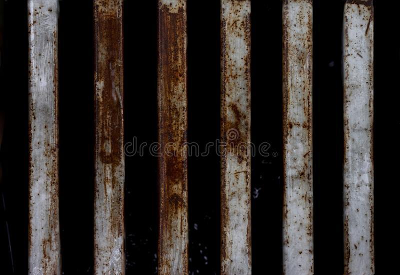 Metal with rush for texture. stock photos
