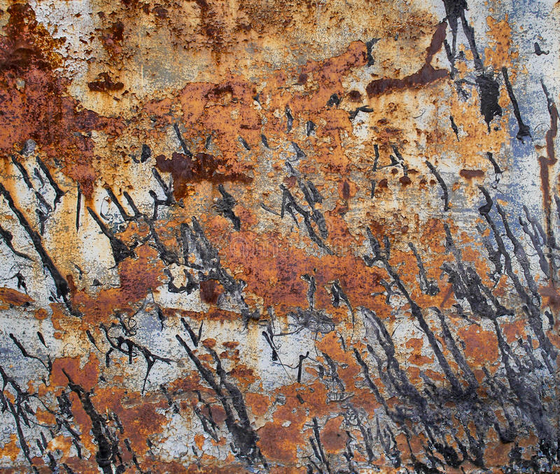Rusted metal texture, abstract grunge background royalty free stock photos