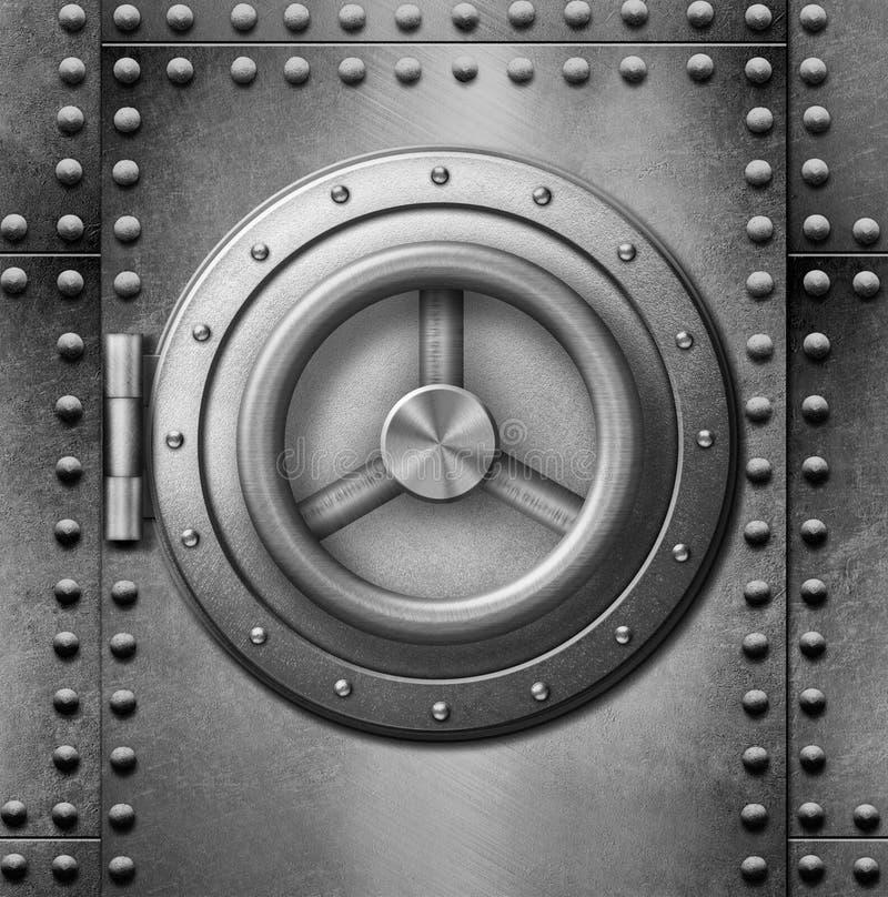 Metal safe or door 3d illustration stock photography