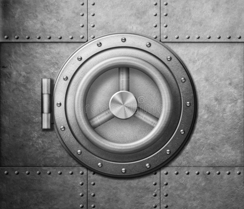 Metal safe door icon 3d illustration royalty free stock photography
