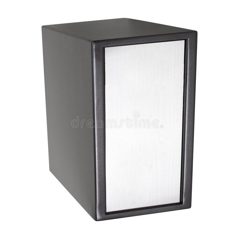 The metal safe on a white royalty free stock photo