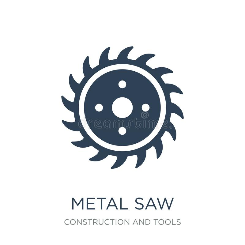 Metal saw icon in trendy design style. metal saw icon isolated on white background. metal saw vector icon simple and modern flat. Symbol for web site, mobile stock illustration