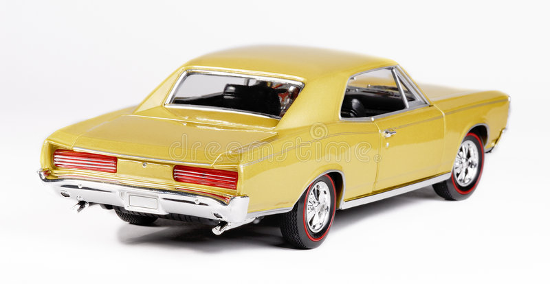 Metal Scale Toy Car Back Royalty Free Stock Photo