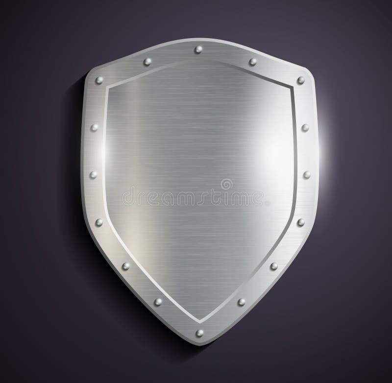 metal-schild terug stock illustratie