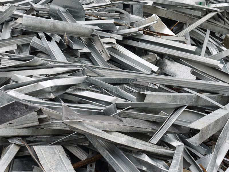 Metal scrap stock image