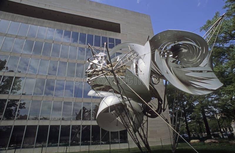 Metal sculpture by James Rosati stock photography