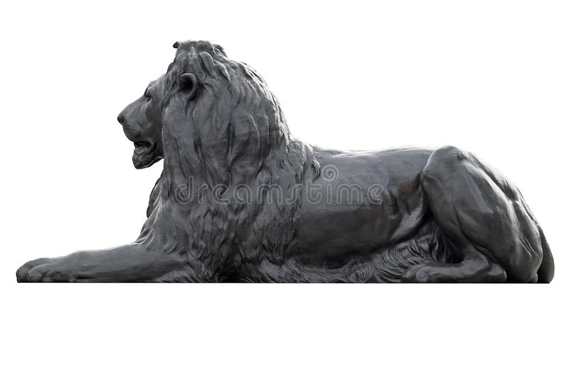 Download Metal Sculpture Of A Lion In Trafalgar Square Royalty Free Stock Image - Image: 12660556