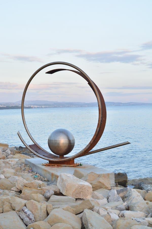 Metal sculpture royalty free stock photo