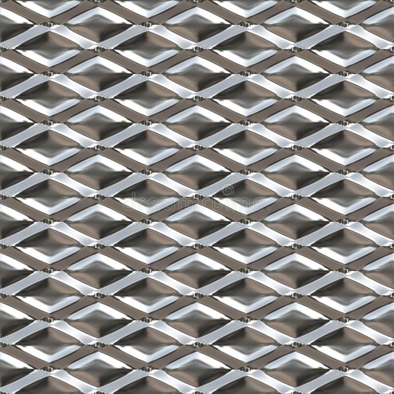 Metal sem emenda do diamante ilustração stock