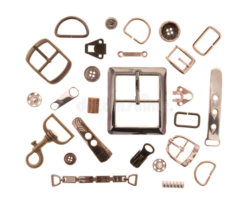 Download Metal sewing fittings stock image. Image of buckle, chrome - 26820999