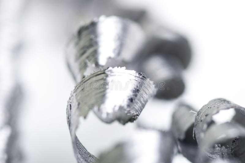 Metal shavings stock photography