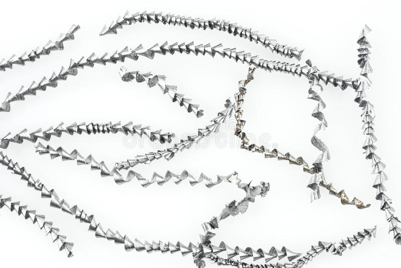 Download Metal shavings on white stock photo. Image of macro, texture - 41203172