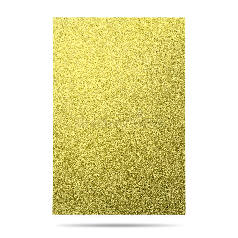 Metal sheet board isolated on white background. Glitter material. Clipping path. Metal sheet board isolated on white background. Glitter material stock illustration