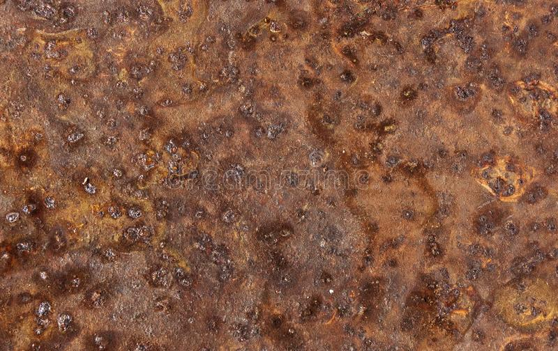 Metal sheet corroded rusty oxidized background significant texture.  stock image