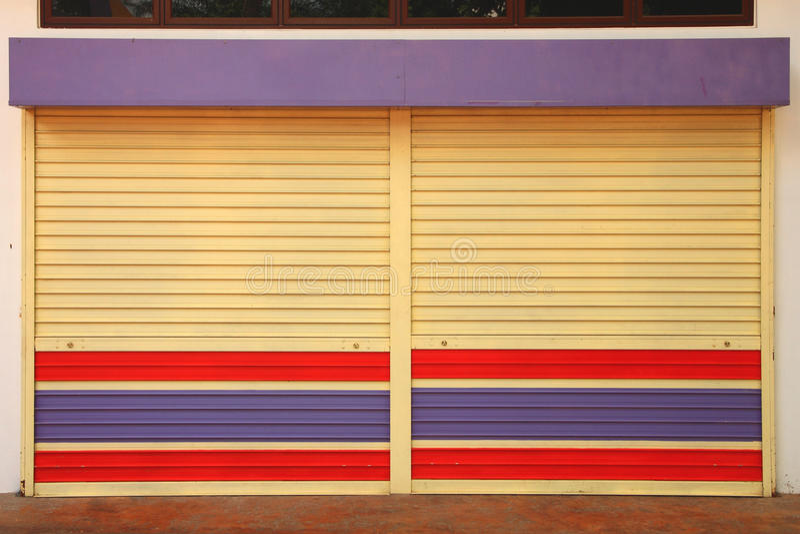 Download Metal sheet door stock photo. Image of roller, security - 20807772
