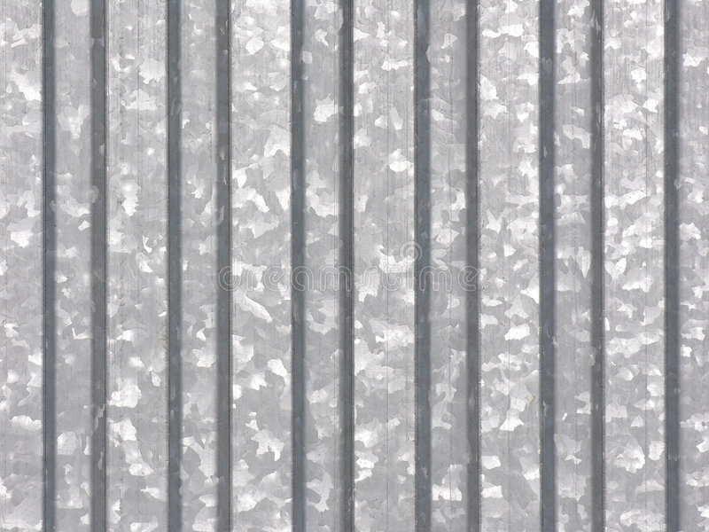 Metal sheet - galvanized stock photo