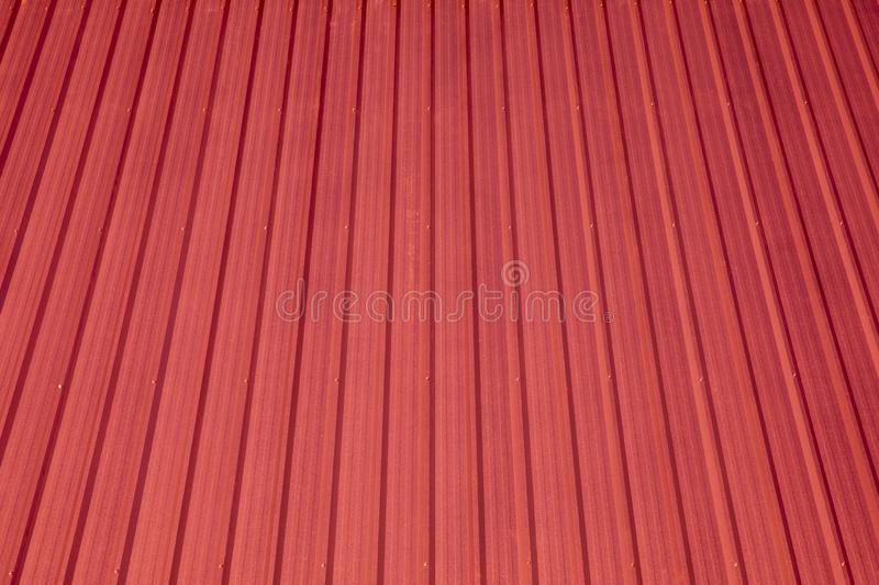 Metal sheet metal roof For the red roof stock photography