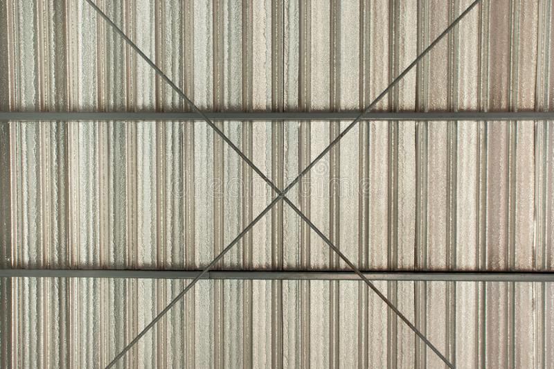 Metal sheet roof top pattern and texture stock photography
