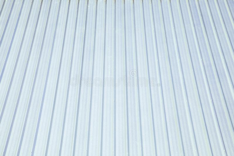Metal sheet metal roof For a white roof stock photos