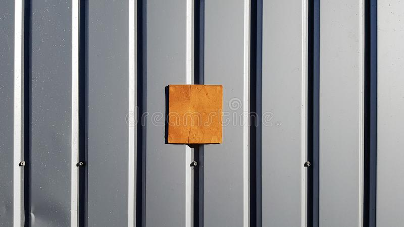 Metal sheet for roofing and background wall. Curve metal texture, table of steel sheet. Selective focus Texture for art backdrop. Add text or graphic design stock image