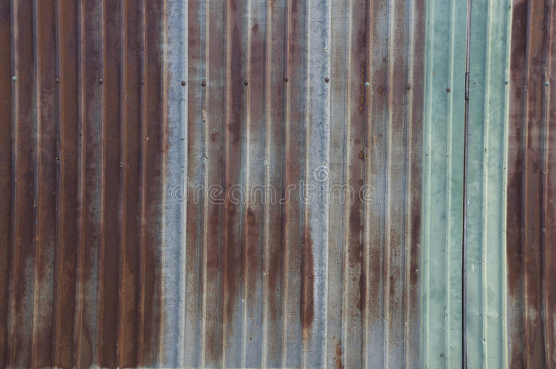 Metal Sheet Rust Wall Home House Rustic Concept Stock
