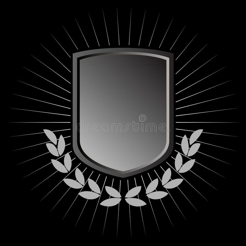 Download Metal shield stock vector. Illustration of defense, accent - 12423212