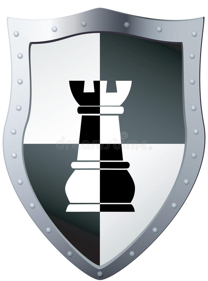 Download Metal Shield A Chess Piece. Stock Vector - Image: 24127275