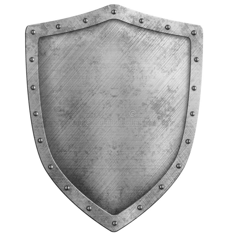 Free Metal Shield Isolated On White Stock Photo - 60391370