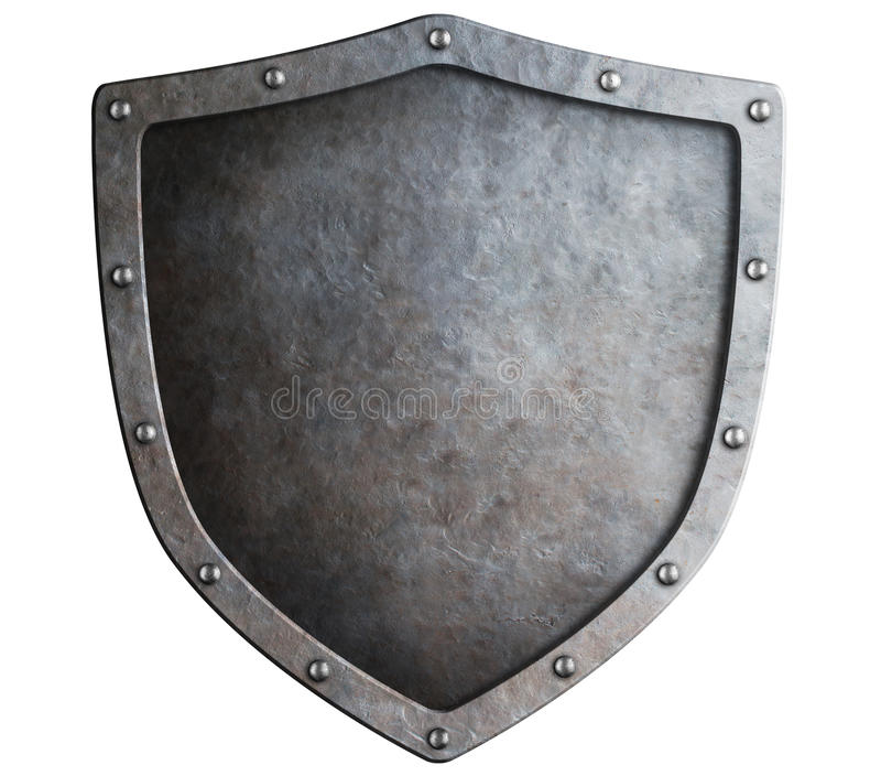 Metal shield isolated royalty free stock image