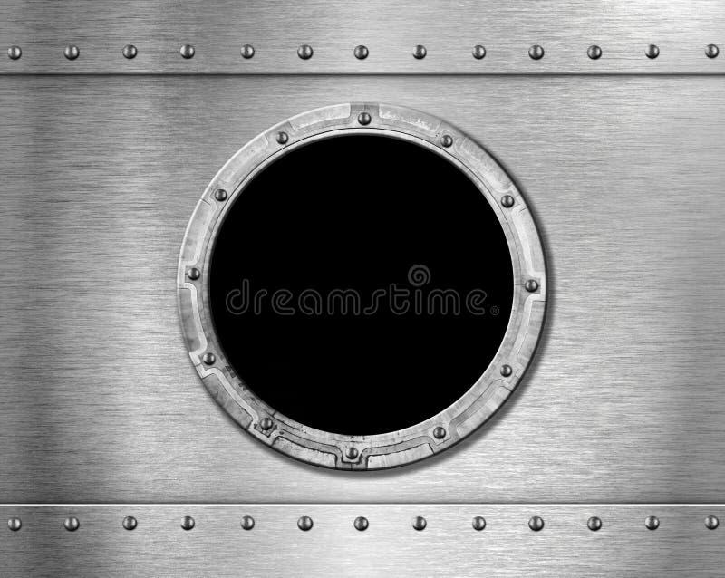 Metal ship porthole stock images