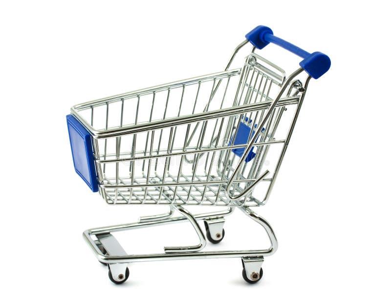 Metal shopping cart stock photography