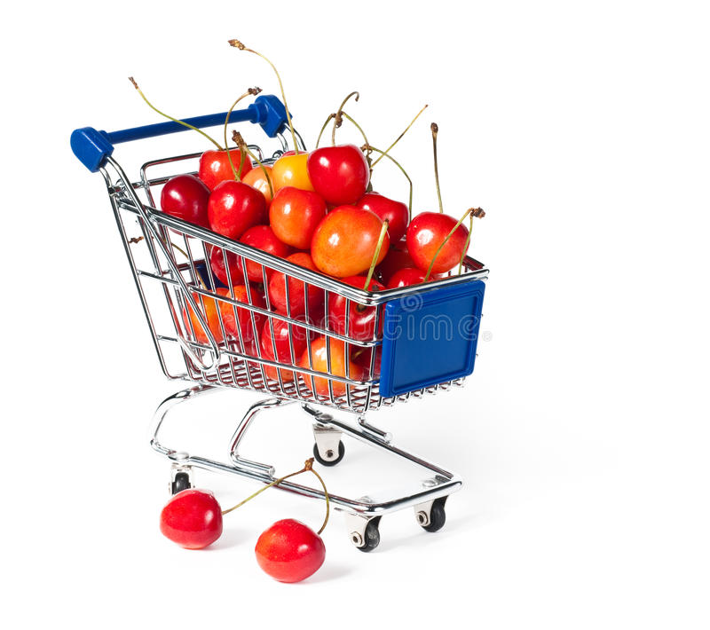 Download Metal shopping trolley stock image. Image of cart, nutritious - 15005663