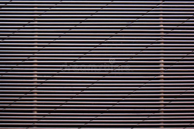 Metal siatka z horyzontalnymi liniami fotografia stock