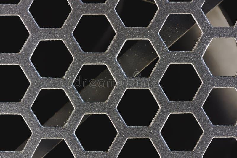 Metal siatki symetryczny makro- zdjęcie royalty free