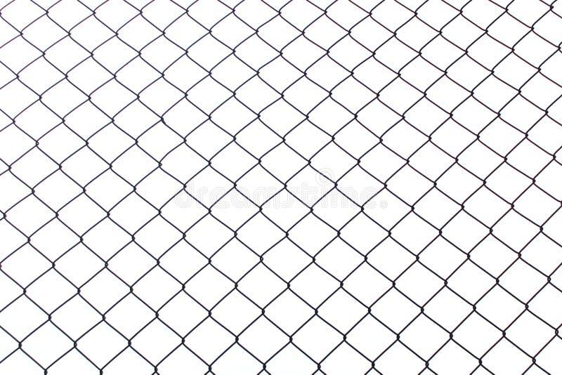 Metal sieć na białym tle fotografia zaciemnia fotografia royalty free