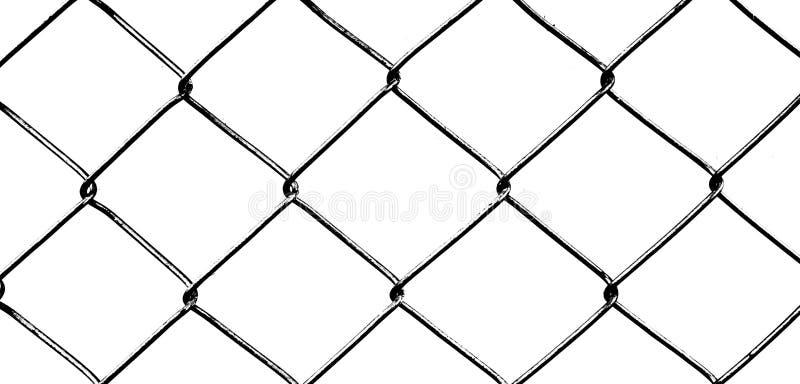 Metal sieć odizolowywająca na białym tle fotografia zaciemnia obraz royalty free