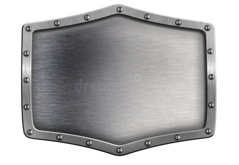 Metal skyddar eller pläterar med isolerade rivets stock illustrationer