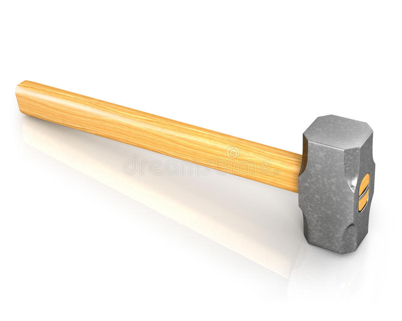 Download Metal sledge hammer stock illustration. Image of weight - 20125731
